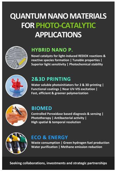 Quantum Nano Materials for Photo-Catalytic Applications