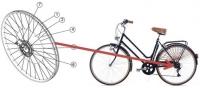 Kit acoplable a bicicletas para la ayuda en el pedaleo a través del aprovechamiento de la energía de la frenada